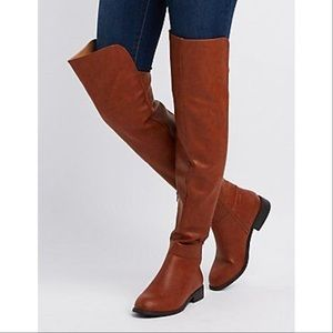 Charlotte Russe Faux Leather Over-The-Knee Boots
